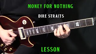"how to play ""Money For Nothing"" on guitar by Dire Straits Mark Knopfler - rhythm guitar lesson"