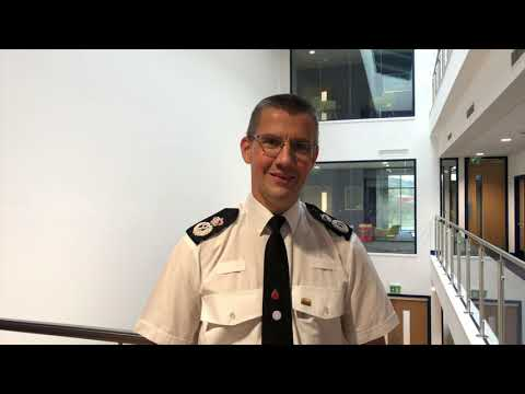 North Wales Police Chief Constable Carl Foulkes at new Llay station