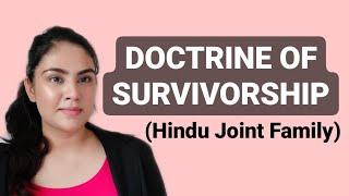 Doctrine of survivorship hindu joint family