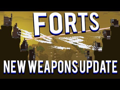 NEW WEAPONS AND BUILDINGS! - FORTS MULTIPLAYER 4V4 FORTS TONS OF GUNS UPDATE