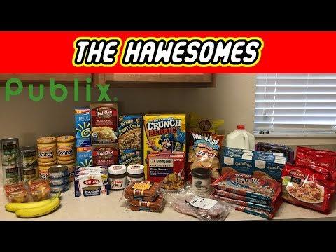 Publix Grocery Haul 8/20/2017