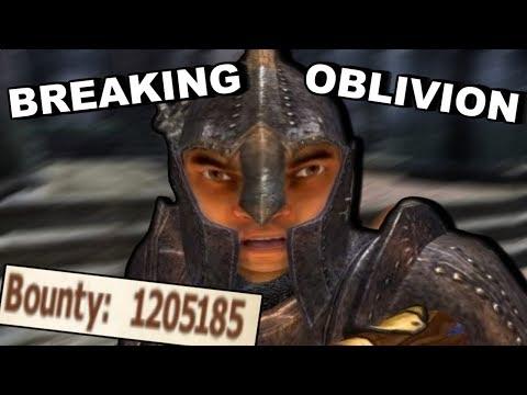Breaking Elder Scrolls 4 Oblivion By Only Breaking The Law