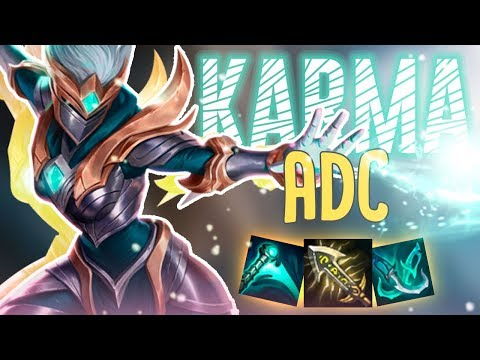 TIRED OF SUPPORTING BAD CARRIES?! BECOME THE CARRY! ADC Karma -Off Meta Monday -  League of Legends