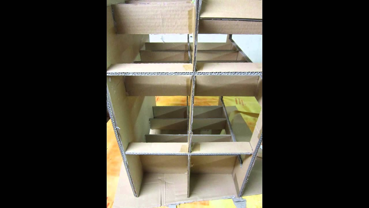 tutoriel meuble en carton youtube. Black Bedroom Furniture Sets. Home Design Ideas
