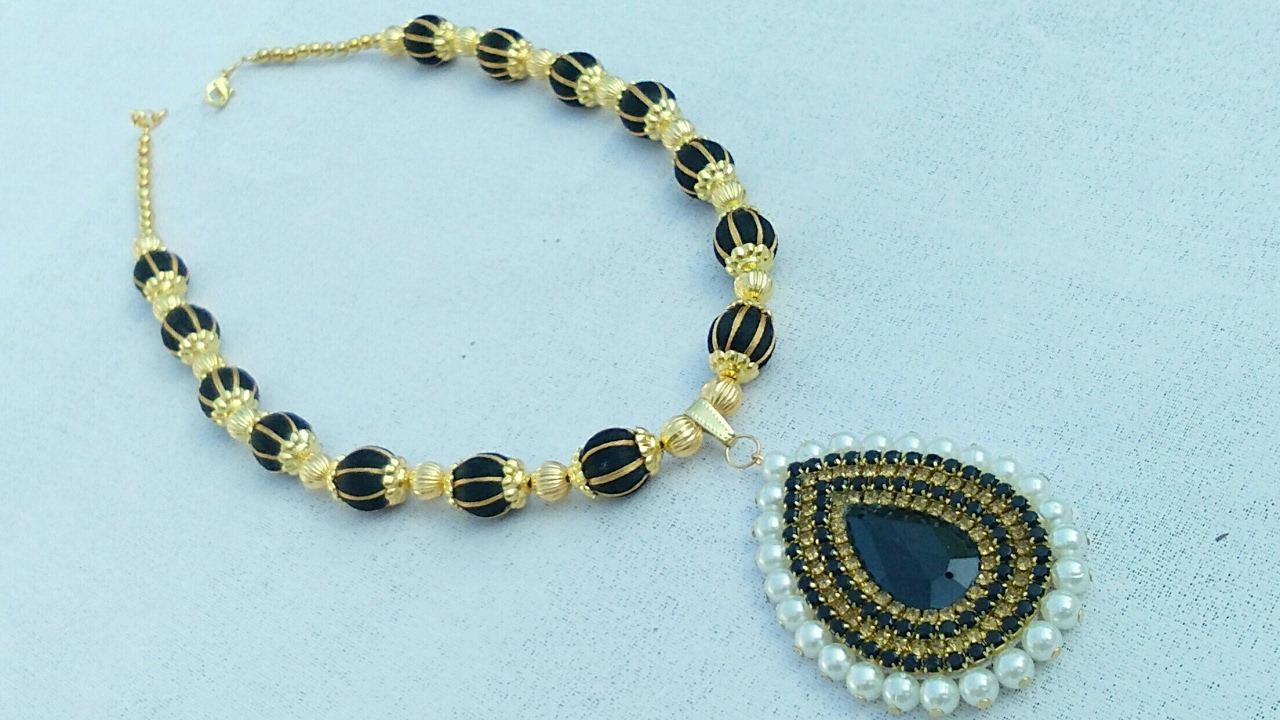 How To Make Designer Silk Thread Necklace Jewelry Making Party