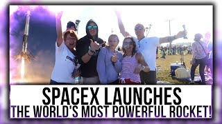 SPACEX LAUNCHES, The world's most powerful rocket!