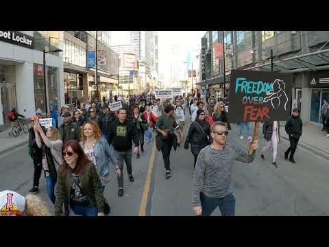 World Protest Day,(part3) Anti-lockdown Protest, Toronto,Canada, Saturday March 20, 2021
