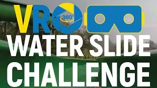 EXTREME | VR 360 Water Slide Challenge | 4K | Watch with VR headset |