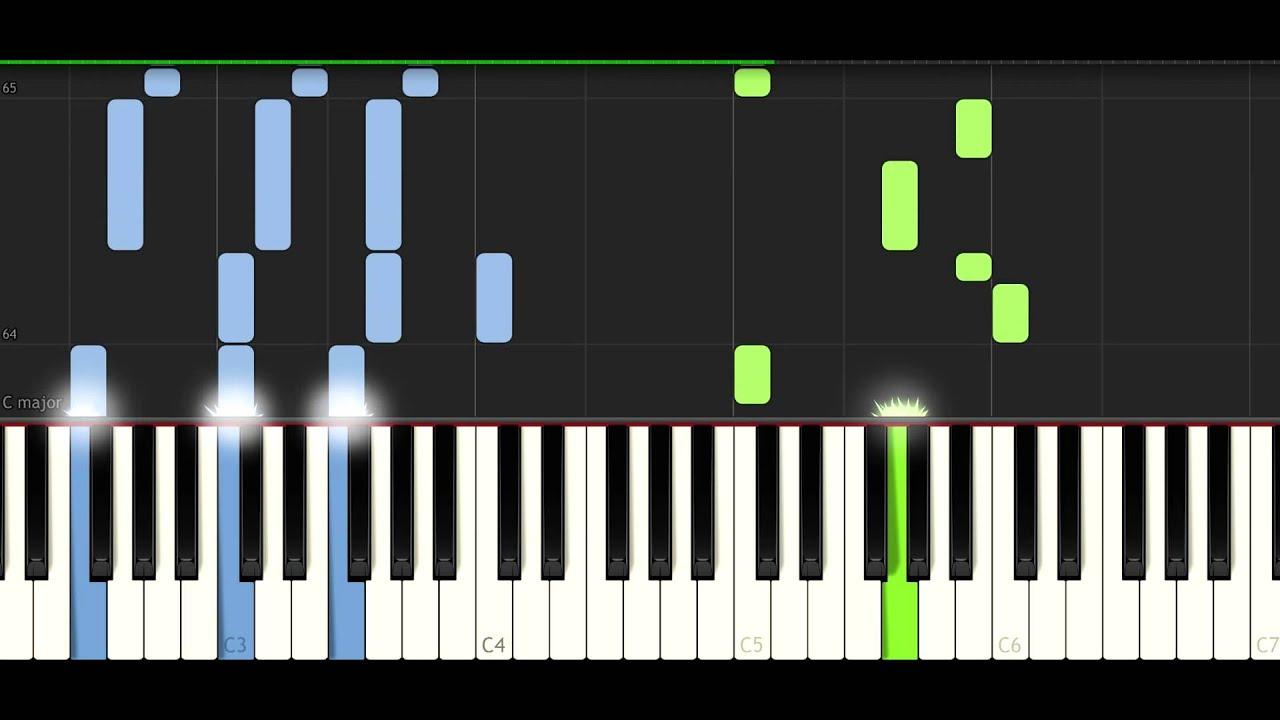 Piano Learning App >> Tobu & Itro - Sunburst - PIANO TUTORIAL - YouTube