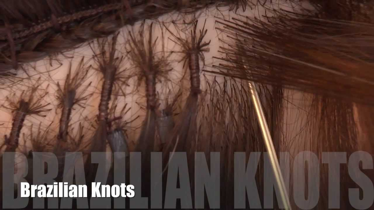 How To: Apply Brazilian Knots Hair Extensions - YouTube