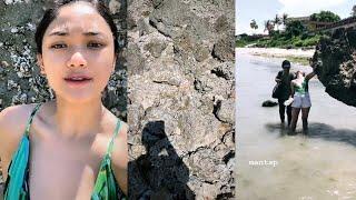 BURUAN LIAT Marion Jola Liburan Di Pantai Gak sengaja terlihat JELAS