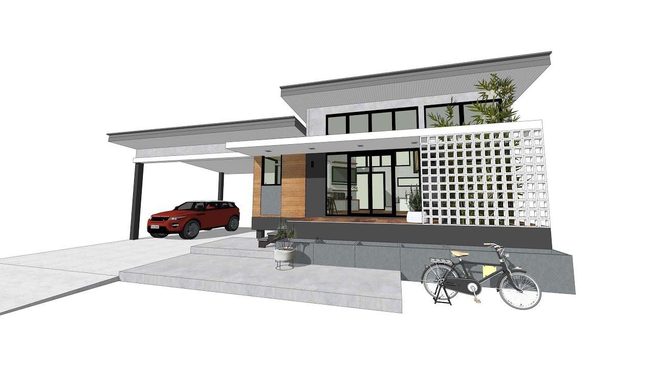 แบบบ านสวย Ep34 บ านช นเด ยวม ช นลอยห องนอน บ านราคาถ ก Small Home Loft Style Youtube