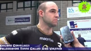 13-03-2013: Intervista ad Emiliano Cortellazzi nel post gara1 ottavi NewMater-Vibo 3-2