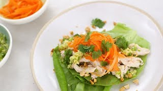 Chicken Lettuce Cups with Ginger-Scallion Oil- Healthy Appetite with Shira Bocar