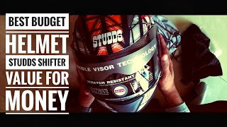Overview of best budget helmet I STUDDS SHIFTER D6 DECOR ORANGE BLACK I VALUE FOR MONEY
