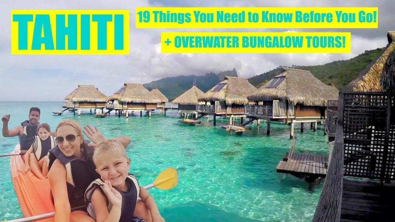 Overwater Bungalow Tour + 19 Travel Tips to Tahiti! (Bora ...
