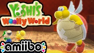 Yoshi's Woolly World PART 8 Gameplay Walkthrough 2 Player (BOSS Knot-Wing Luigi Pacman Amiibo) Wii U
