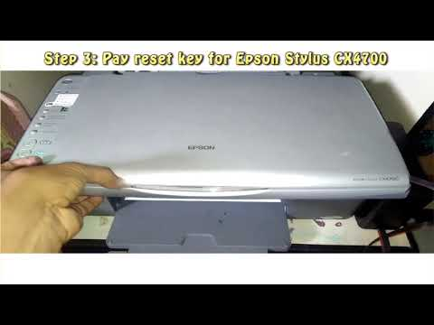 Reset Epson Stylus CX4700 Waste Ink Pad Counter
