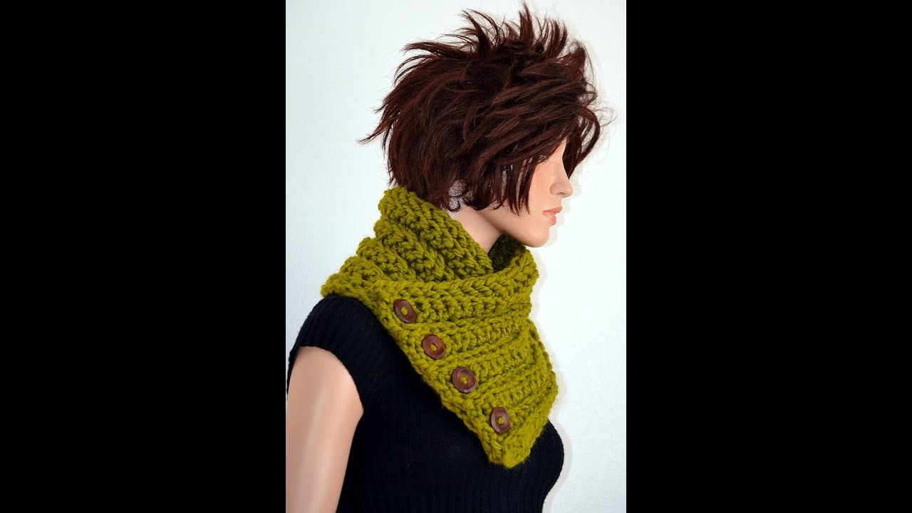 Tutorial How To Crochet A Neckwarmer Using Hdc Youtube