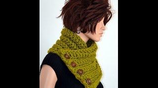 tutorial how to crochet a neckwarmer using hdc