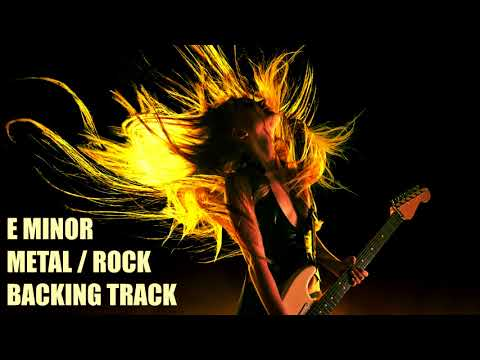 E Minor // Hard Rock Metal // Backing Track // For Beginners // 105BPM