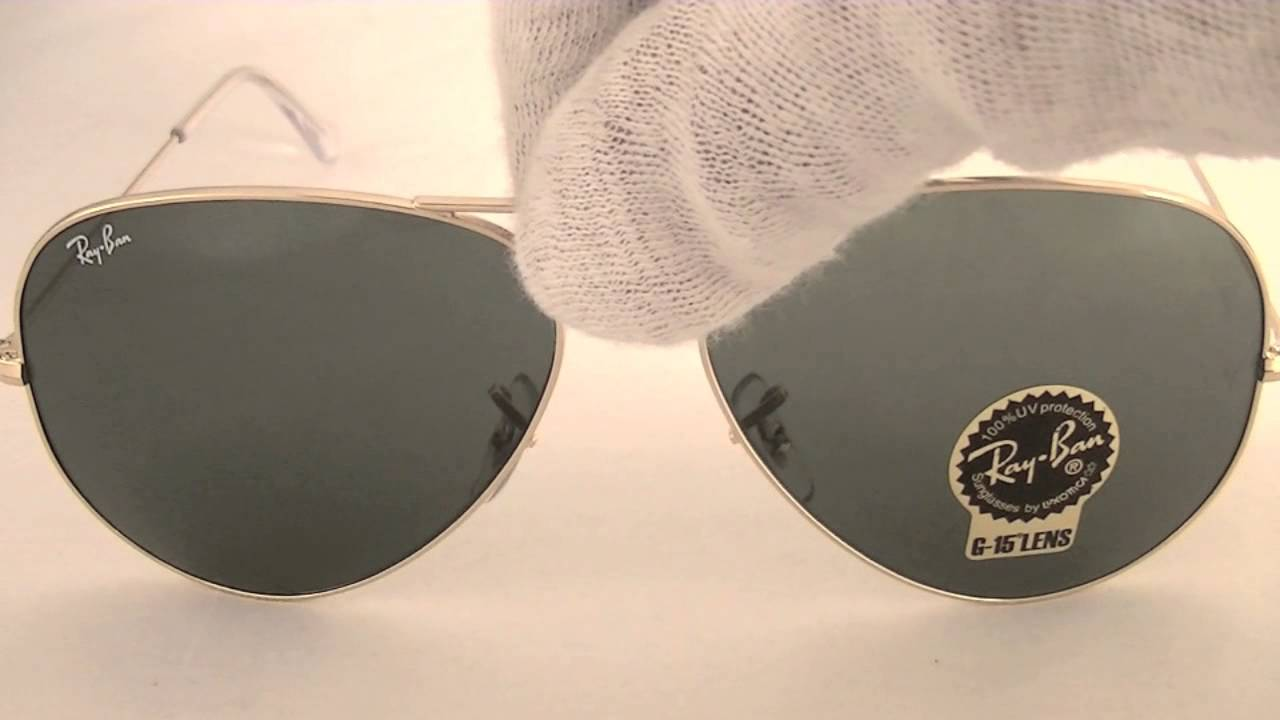 5f6a7032b4d Ray Ban Aviator Sunglasses RB3026 L2846 - YouTube