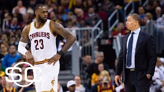 LeBron James asked if he thought Tyronn Lue could be fired | SportsCenter | ESPN