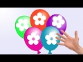 15 Minutes Learn Colours Wet Balloons compilation - Color Flower Finger Balloon Nursery Rhymes