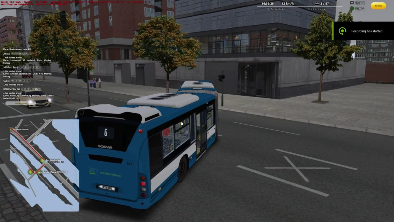 virtual bus linie