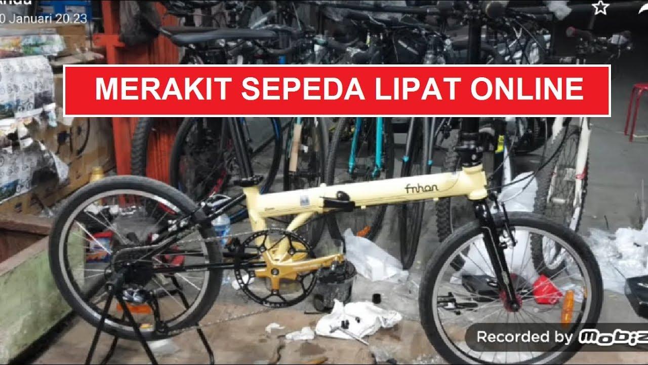 Merakit Sepeda Lipat Secara Online Di Toko Sepeda Majuroyal Youtube