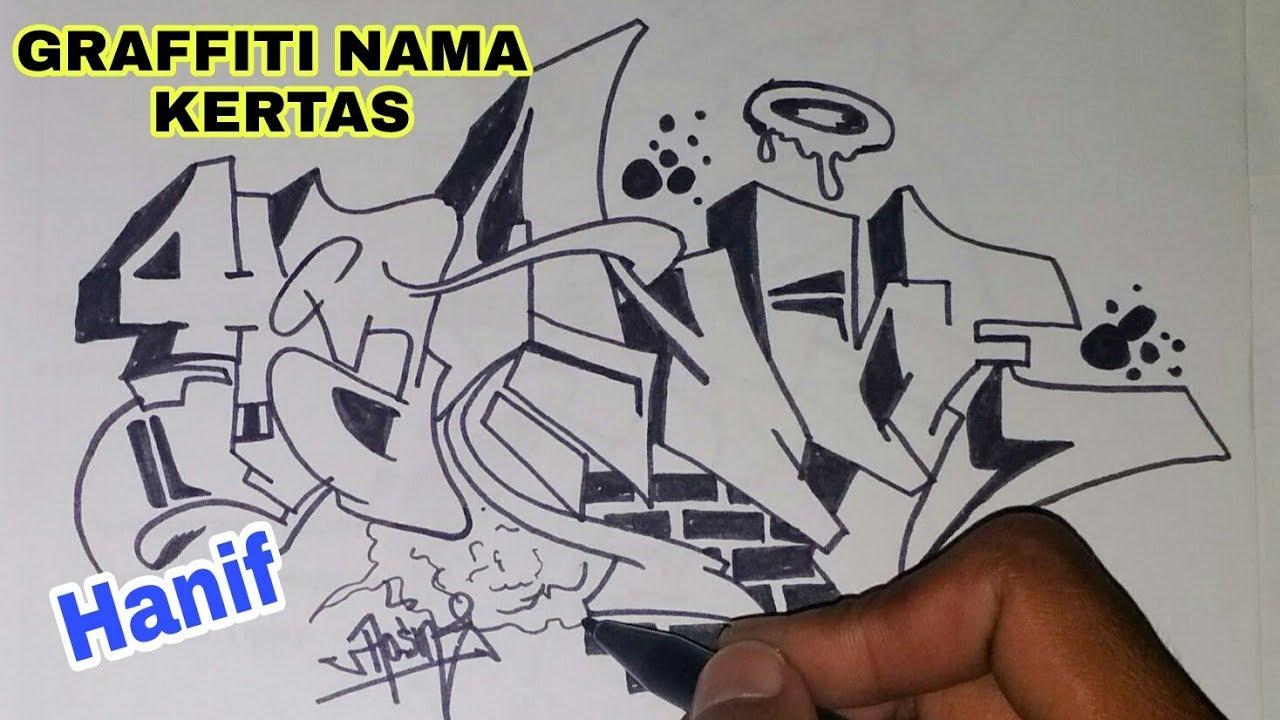 Graffiti kertas hitam putih keren hanif hmong video