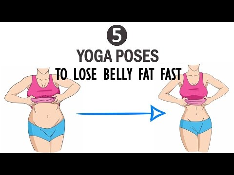 5 Yoga Poses to Lose Belly Fat Fast - Simple Yoga Exercises to Reduce Weight in One Week