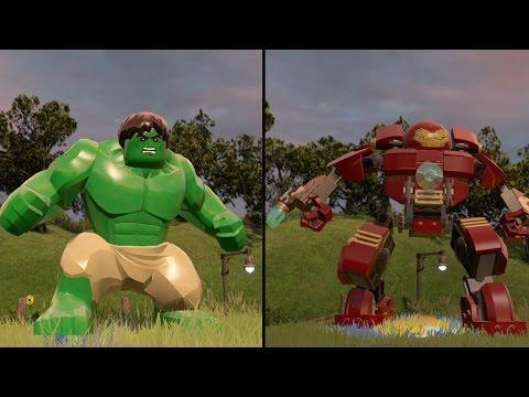 LEGO Marvel's Avengers - Green Hulk vs Hulkbuster - CoOp Fight | Free Roam Gameplay [HD 1080p]