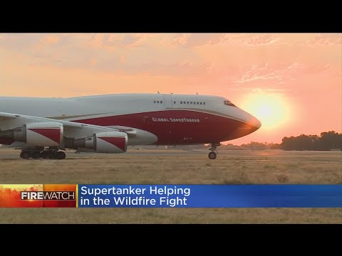 Largest Air Tanker In The World Part Of Northern California Firefighting Team