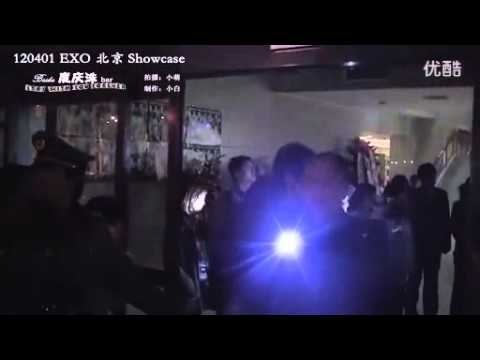 [Fancam] 120401 EXO (Tao, Xiumin, Tao's mom, Kai & D.O) leaves after the showcase in Beijing