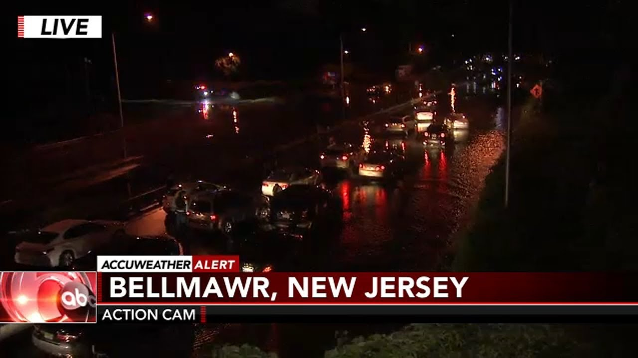 Shocking Footage Of The Worst Flooding In South Jersey Since