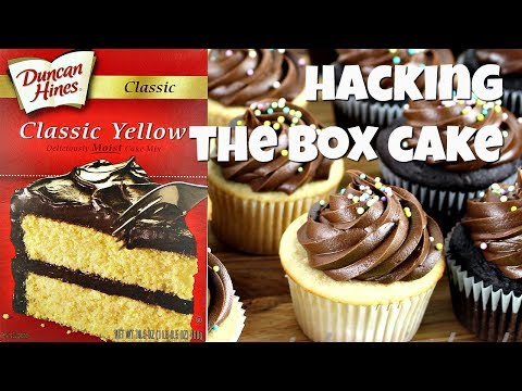 How to make cake from box without eggs
