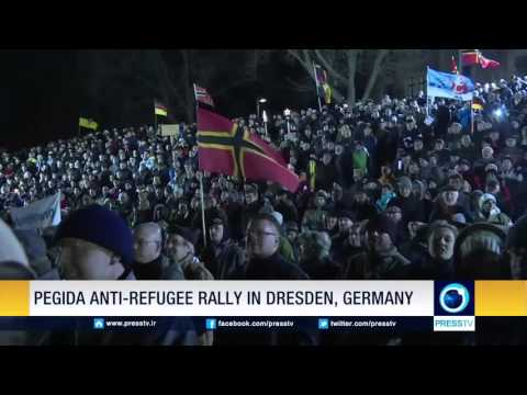 PEGIDA Anti-Refugee Rally In Dresden, Germany