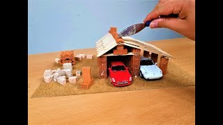 How To Build a Brick Wall - Bricklaying - How To Build a Mini Garage - diy garage model