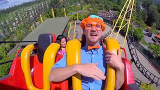 Theme Park Tour with Blippi | Learn Colors for Toddlers | Preschool Learning