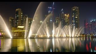 Dubai water fountain show 2016