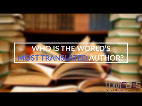 Who is the world's most translated author?