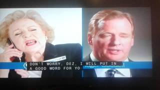 Betty white @NFL commercial