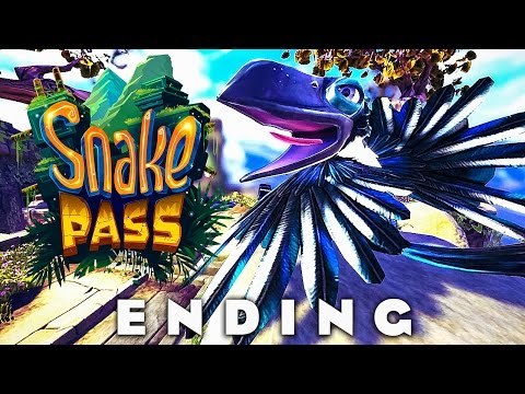 SNAKE PASS -  Hurrican Heights & Twister Tops / ENDING (Snake Pass Walkthrough Gameplay Part 7)