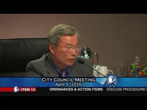 Cupertino Mayor Barry Chang demands respect at council meeting on 04/05/2016