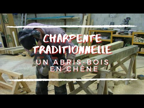 WoodStock un abris bois en chêne - making an oak wood shelter
