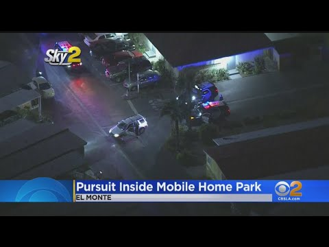 Crash & AJ - Police Chase Ends With Guy Driving In Circles In Mobile Home Park