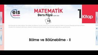 Matematik 1 - Bölme Bölünebilme 2 📚