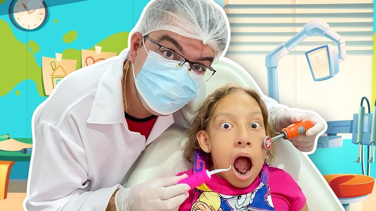 Maria Clara vai ao dentista - Going to the dentist song for Kids  - MC Divertida