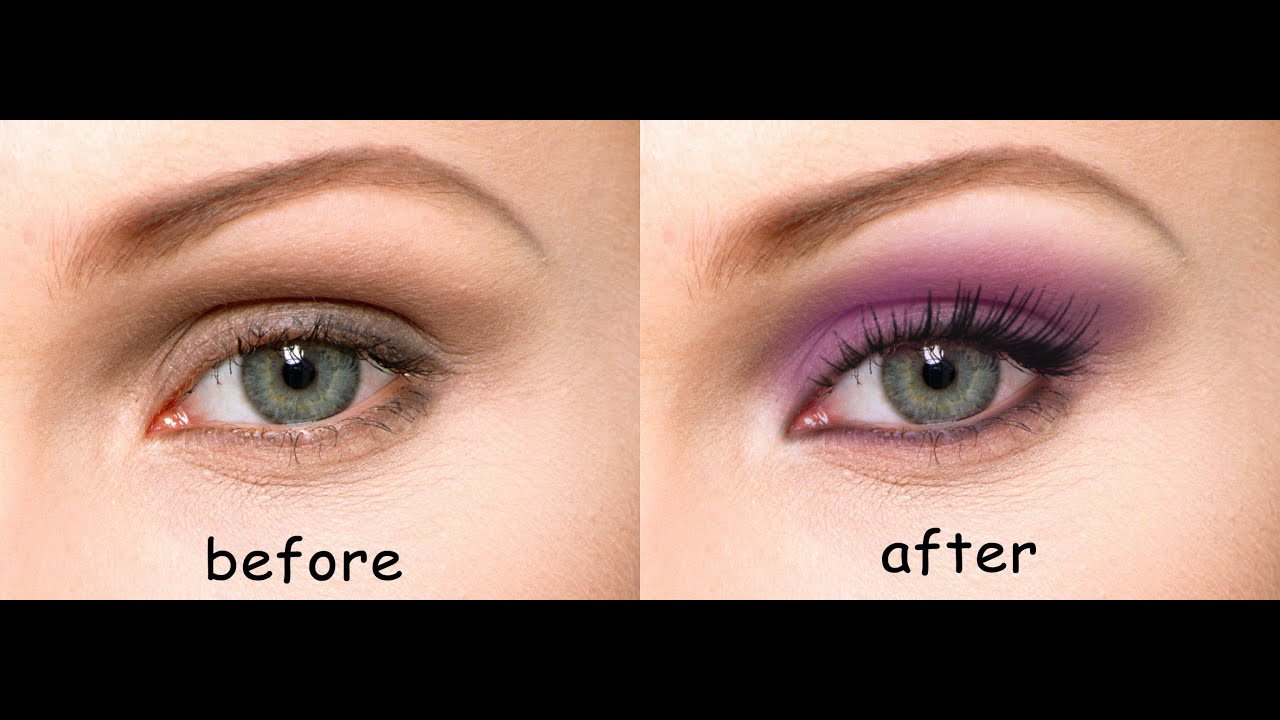 How to apply Realistic Eye Makeup in Photoshop - YouTube